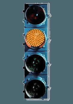 4 light traffic light-amber